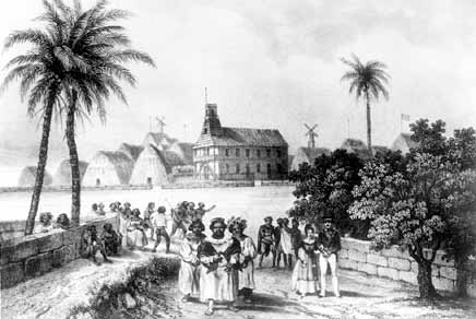 A5, An 1836 engraving depicts the Hawaiians with a church 16 years after the first missionaries arrived.