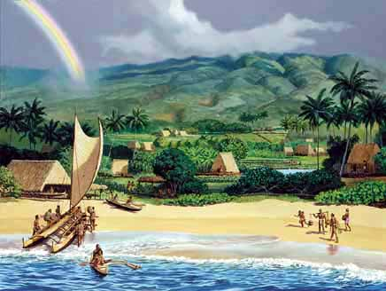 K1, Ka'anapali 200 Years Ago, by Herb Kane